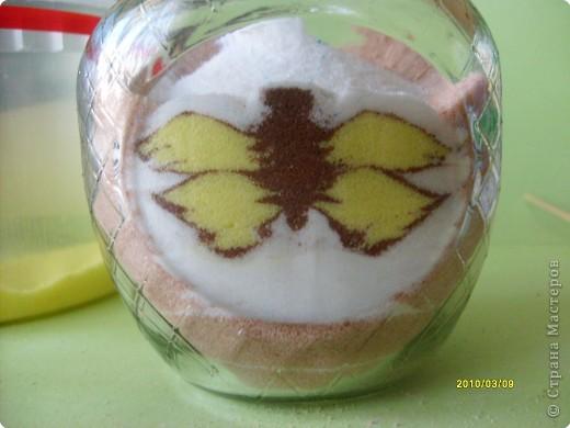 """Дорогие мастерицы, вот такой новый рисунок крашеной солью получился у меня!  Захотелось попробовать изобразить бабочку. А по ходу """"рисования"""" решила фотографировать процесс по просьбе некоторых жителей СМ показать, как я это делаю.  фото 19"""