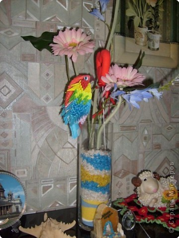 Вот такой попугайчик у меня получился фото 3