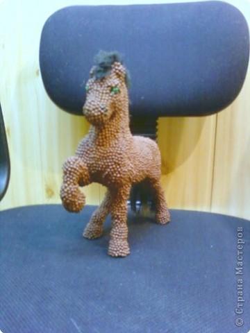 Лошадь Пржевальского из головок спичек фото 3