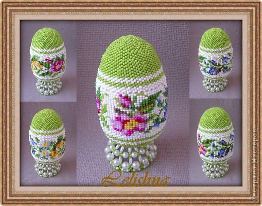 """Бисероплетение: Яйцо """"Цветы"""""""