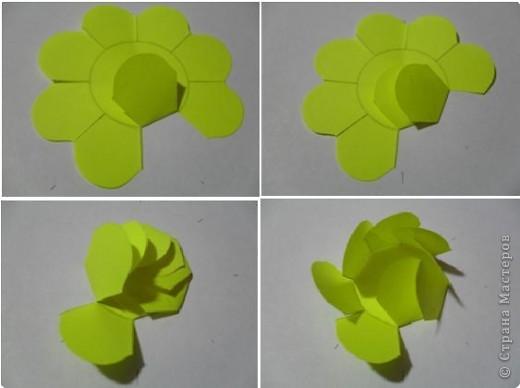 Цветы из стикеров фото 5