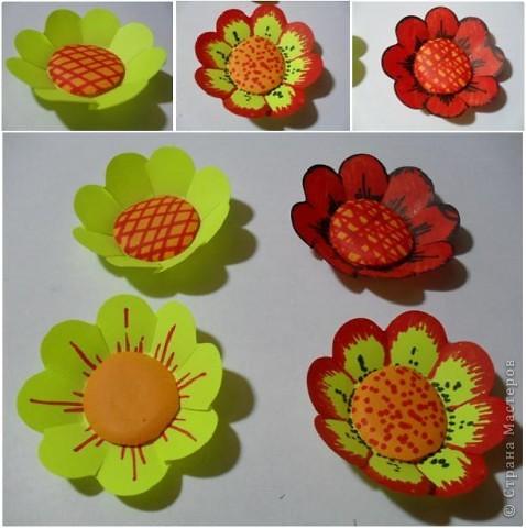 Цветы из стикеров фото 7