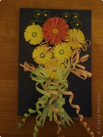 Квиллинг: ещё одна открыточка