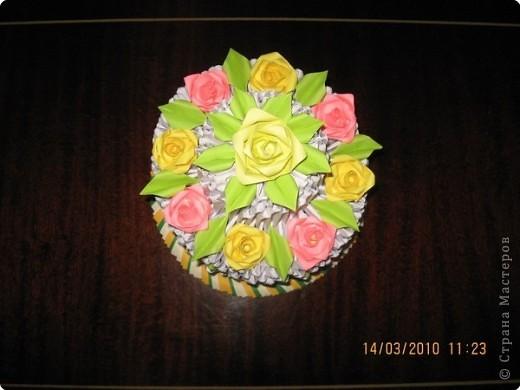 Оригами модульное: А у меня еще один тортик