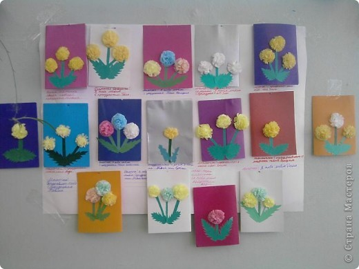 Аппликация в средней группе открытка для мамы на 8 марта