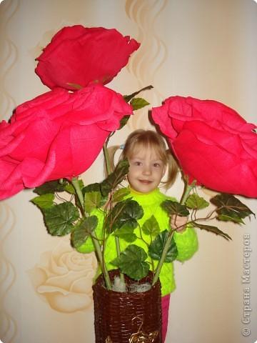 Делала в подарок розы.Решилась на мастер-класс. фото 1