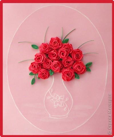 Открытка для мамы своими руками с розами из
