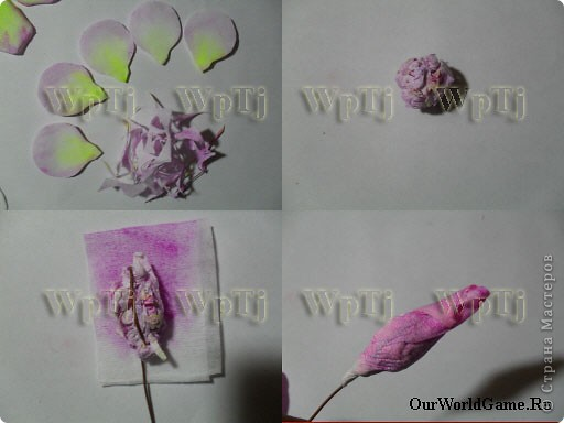 Мастер класс роза из бумаги фото 4