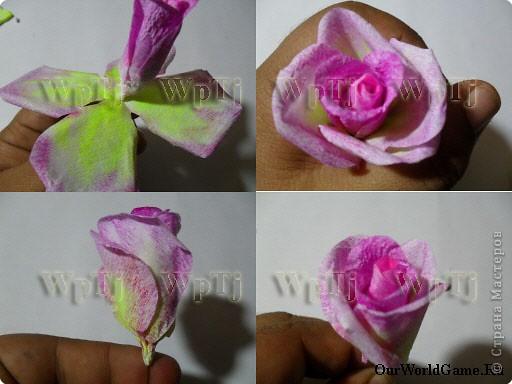 Мастер класс роза из бумаги фото 7