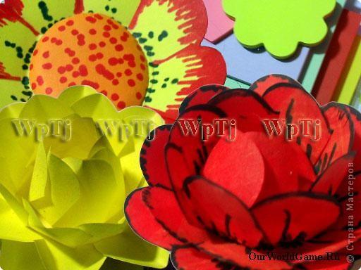 Цветы из стикеров фото 1