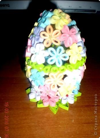 Поделка изделие Пасха Квиллинг Пасхальное яйцо Бумага