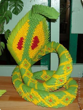 Мне очень понравилась змея. Но конструкция шаткая и неустойчивая.  автор идеи -  Манмаруся (https://stranamasterov.ru/user/11997) фото 1