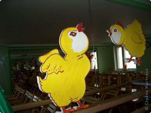 Цыплята пасхальные  для украшения зала студии.