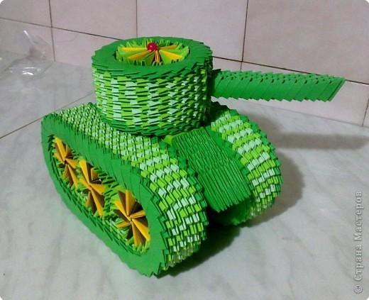 Мастер-класс Поделки для мальчиков День Победы Оригами китайское модульное МК ТАНК Бумага фото 18
