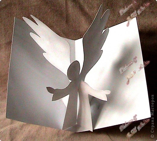 Объемная открытка ангел