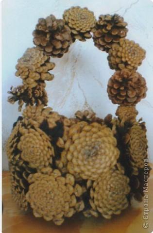 Год поделки из сосновых шишек шишки