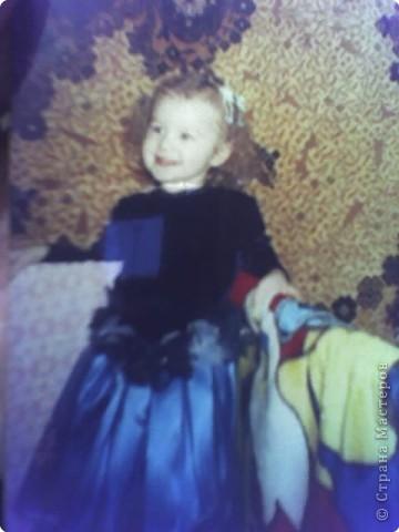 На день рождения племянницы пошила платьице из остатков велюра, атласа и фатина. Вот такая у нас принцесса Виолетта. фото 1