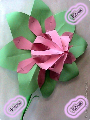 Этот цветочек сделала как-то, на подарок но ... он остался дома))  фото 4
