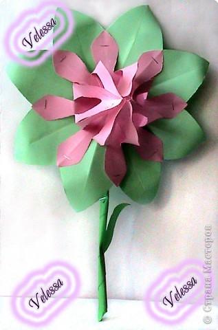 Этот цветочек сделала как-то, на подарок но ... он остался дома))  фото 5