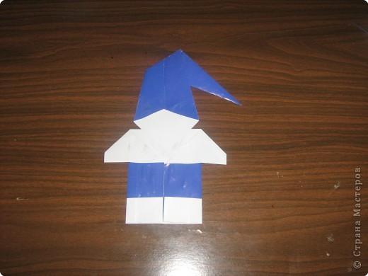Мастер-класс Оригами Гномик-оригами МК Бумага фото 10