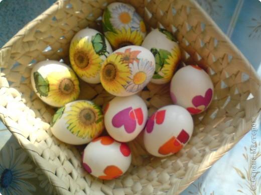 Декупаж яйца пасхальные декупаж