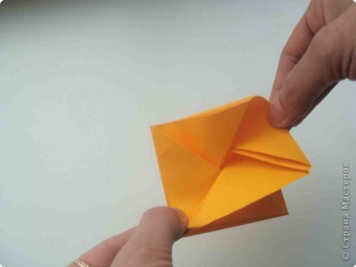 Мастер-класс Оригами Коробочка кошелек с секретом Бумага фото 21