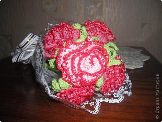 предлагаю вам сделать вот такую розу. фото 15