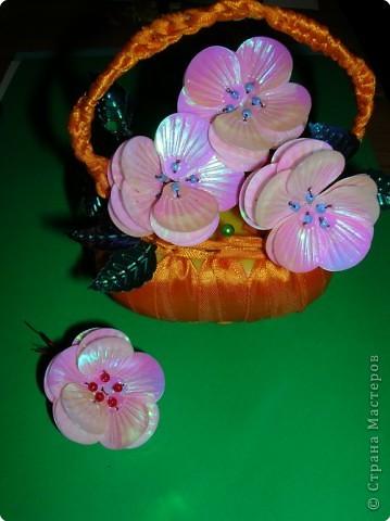 Цветы из пайеток и бисера мк