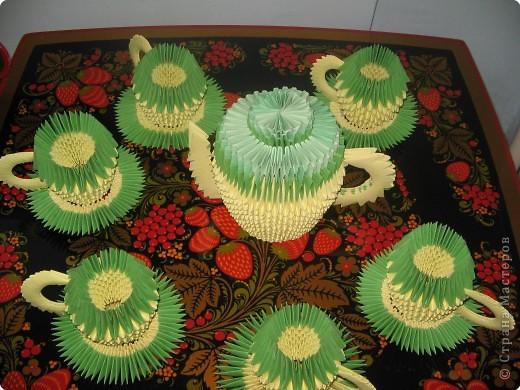 Оригами Чайный сервиз Бумага