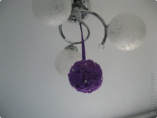 Насмотревшись работы мастериц, решили с дчей сделать такой шарик. фото 1