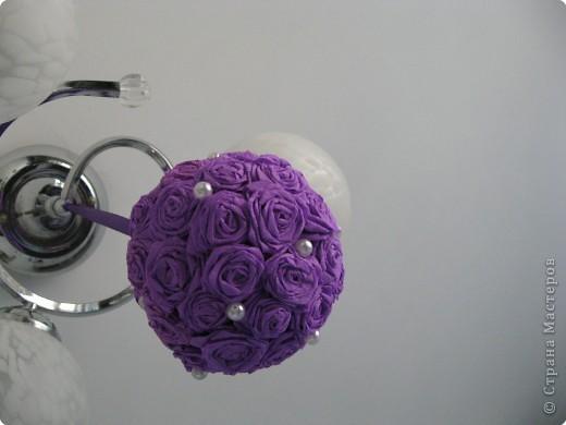 Насмотревшись работы мастериц, решили с дчей сделать такой шарик. фото 2