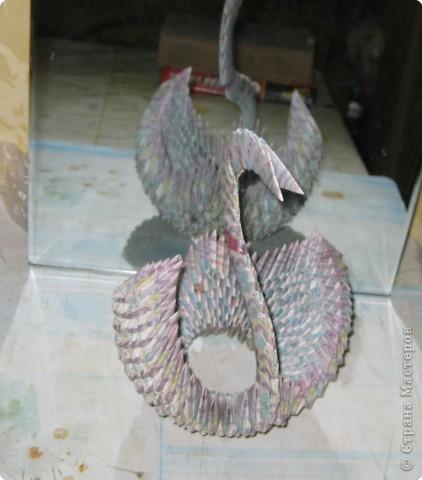 Оригами модульное: Лебедь из денег