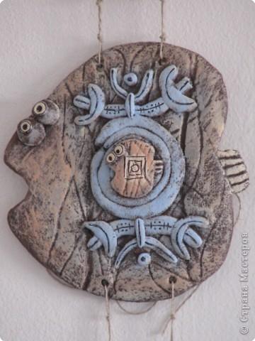 Лепка Роспись рыбка этническая Краска Тесто соленое фото 2
