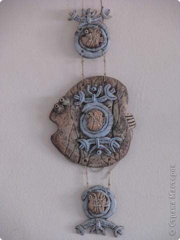 Лепка Роспись рыбка этническая Краска Тесто соленое фото 1