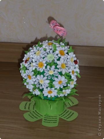 Этот шар сделан по идее цветочного шара у завитушки на конкурс, посвященный месячнику борьбе с туберкулезом фото 1