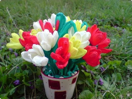 Бумагопластика: Тюльпаны