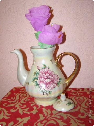 """сделала вот такие цветочки по мк """"МК роз гигантов""""!К сожалению автора не помню,но огромное ему спасибо=)"""