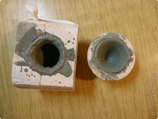 Сначала нужно сделать гипсовую форму для литья. Видела МК у Cvetovod, но я форму готовлю проще. фото 11