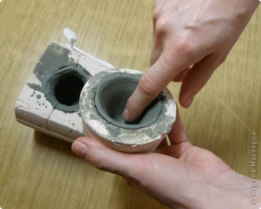 Сначала нужно сделать гипсовую форму для литья. Видела МК у Cvetovod, но я форму готовлю проще.  фото 12
