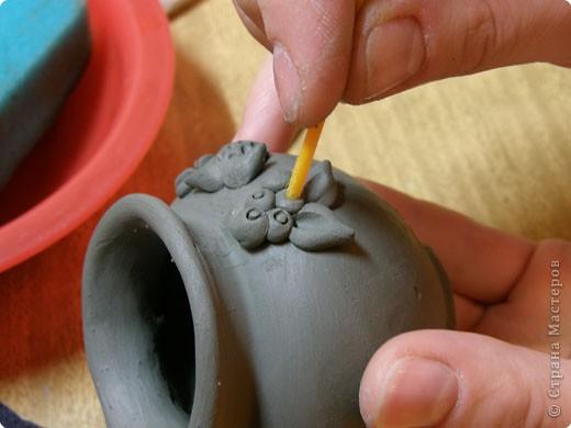 Сначала нужно сделать гипсовую форму для литья. Видела МК у Cvetovod, но я форму готовлю проще.  фото 19