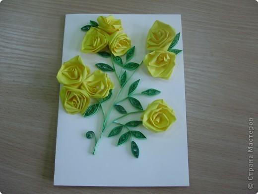 Квиллинг: Желтые розы