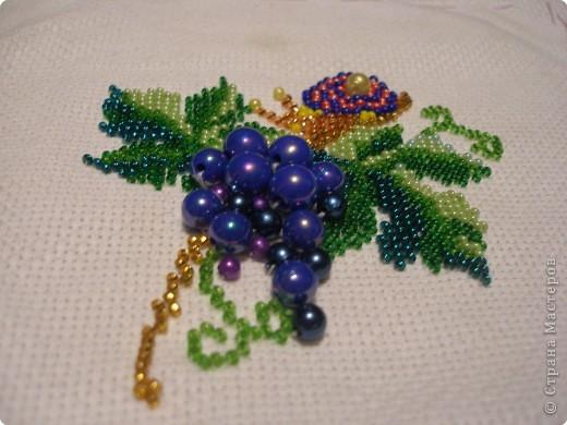 Вышивка Виноград и улитка
