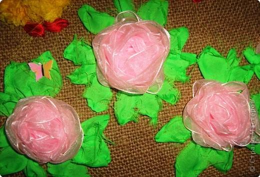 Вышивка: Панно вышивка полосками ткани фото 3
