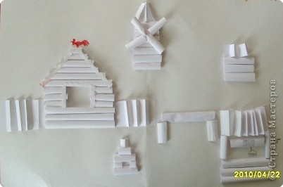 Бумагопластика: Белая деревня фото 1