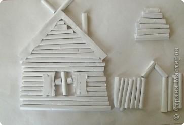 Бумагопластика: Белая деревня фото 3