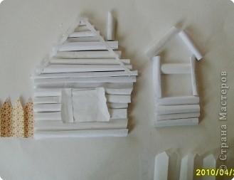 Бумагопластика: Белая деревня фото 7