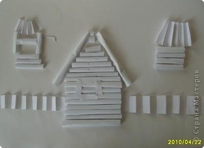 Бумагопластика: Белая деревня фото 2