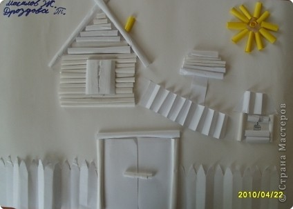 Бумагопластика: Белая деревня фото 4