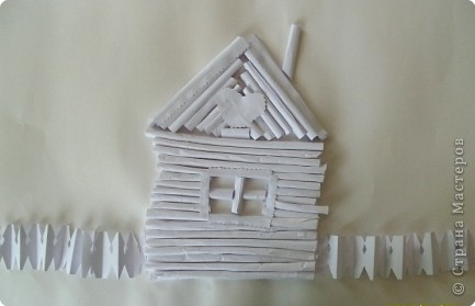 Бумагопластика: Белая деревня фото 6