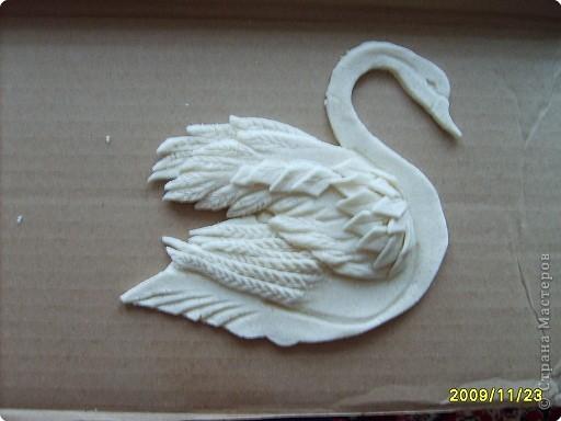 Лебедь из теста пошагово